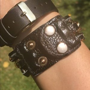 Evolving Always Jewelry - Black Leather Bracelet 7 to 7.5 Inches
